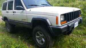 1998 jeep cherokee sport 4.5 lift.