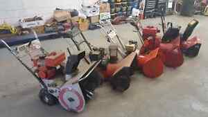 Many snowblowers For Sale!