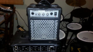Small Washburn Bad Dog BD8 electric guitar amp with patch cord