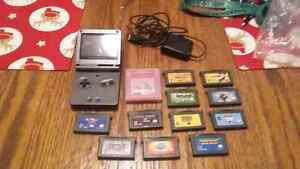 gameboy advance sp and games!!