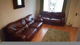 Two xxl leather couches