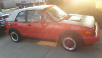 1989 Volkswagen Cabrio Convertible/ NEED GONE MOVING