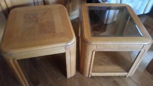 Oak End Tables Matching Set of 4