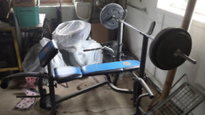 BENCH PRESS + WEIGHTS FOR SALE