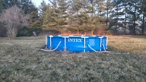 12 X 30 metal frame intex above ground pool