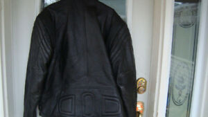 real good quality black leather bike jacket size 54
