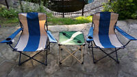 Chaises & Table Pliantes
