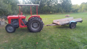 Massey Ferguson Tractor with 2 buckets and snow plough.