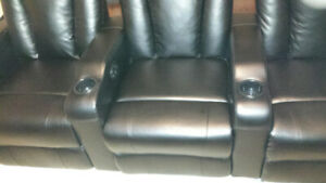 Home Theater/Theatre Seating (3-Seat), Black