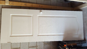 2 white interior doors