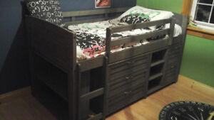Evan Twin Low Loft Slat Bed