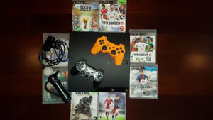 PS3 with 2 third-party Controllers, & 8 Games -Mint Condition