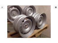 Banded Steel wheels 5x108 r15