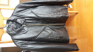 Women's leather riding jacket and rain gear