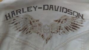 HARLEY DAVIDSON canvas ladies XL jacket