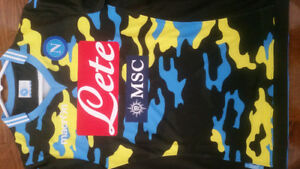 Rare Napoli authentic camouflage Xtreme soccer jersey