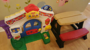 Kid Toy set, Musical Door gate and Kid table