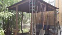 tin shed or metal framed gazebo frame