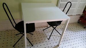 Small IKEA white dining table