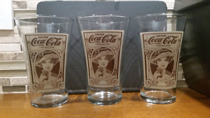 Set of 3 Mothers Pizza Coca-Cola Flared Glasses - 16 oz