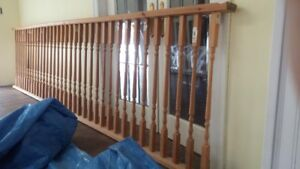 12 foot railing and 36 pickets complete and 5 foot railing comp