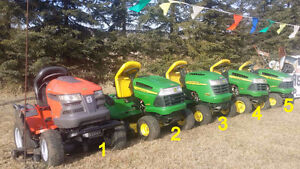 lawn tractors for sale!  THESE ARE GOING FAST!