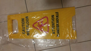 Brand new Caution Wet floor sign - 2 sign boards available