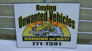 CASH FOR YOUR UNWANTED CAR, TRUCK, VAN, SNOWMOBILE, CALL BRUCE!