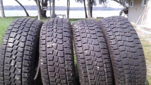 4 avalanche winter tires like new!
