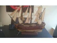 Handmade Model Sail Ship LARGE