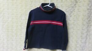 Boys Tommy Hilfiger Turtleneck Top Navy/Red/White Trim Size 3
