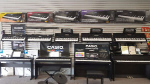 Casio Digital Keyboards and Pianos!