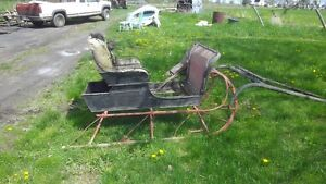 OLD SLEIGH, GOOD FOR DECOR OR REPAIR.