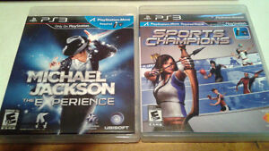 Sports champions et Michael Jackson Experience (PS3move)