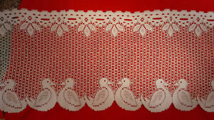 8ft white valance curtain lace (NEW)
