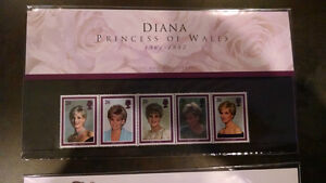 Diana Princess of Wales 1961-1997 British Stamp Set Kitchener / Waterloo Kitchener Area image 1