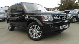 2011 LAND ROVER DISCOVERY 4 SDV6 HSE SANTORINI BLACK FULL BLACK LEATHER BIG