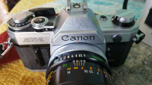 Canon AE-1 Fd mount and 100 macro lens