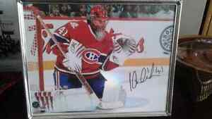 Halak autographed photo in frame