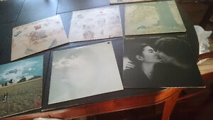 14 BEATLES SOLO VINYL LP RECORDS (9 in NEAR MINT condition)