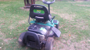 Small ride on lawn mower. Weedeater One