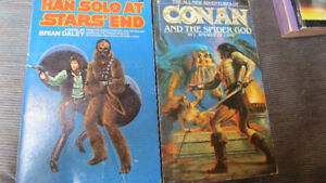 Star Wars and Conan paperbacks, 1980,81