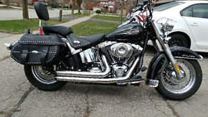 A 2008 Heritage Softail  with 14000kms original