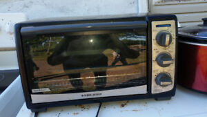 Toaster oven, toaster, slow cooker.