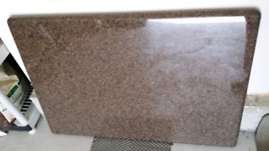 Caster Brown Granite Countertop Like New