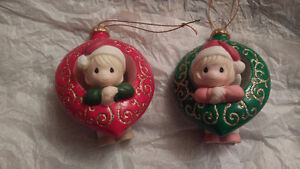 2 Cherished Moments Christmas Ornaments
