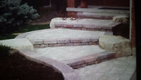 10% off concrete pads and interlocking stone work/retaining wall