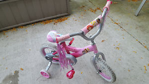 "12"" Princess bike with training wheels"