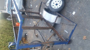 ► 4ft x 7ft Welded Utility Trailer Shell + other trailer parts