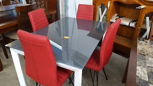 Glass Top Table - Delivery Available